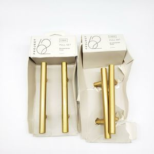 NEW!! (4) Cabinet Knobs Pulls Gold Tone Brass